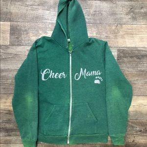Cheer Mama Lg Green Zip Up Hoodie